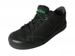 Work safety footwear S3 with fashionable green stitching