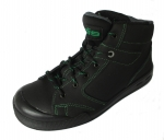 Safety shoes S3 with fashionable green stitching
