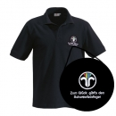 Polo shirt (black) with guild emblem chimney sweep